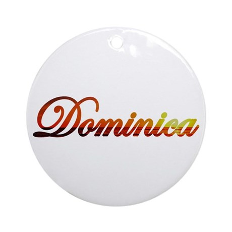 Dominica Ornament (Round)