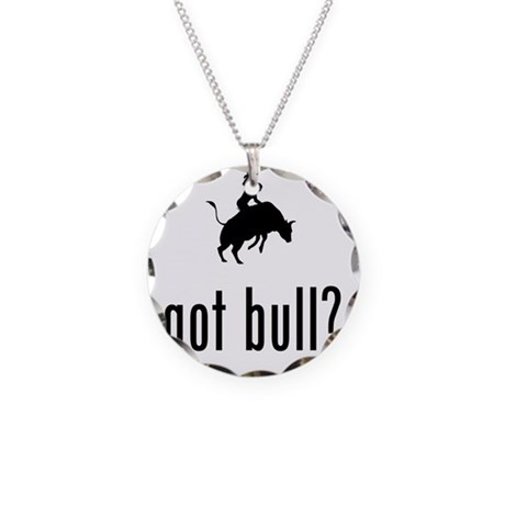 Bull-Riding-02-A Necklace Circle Charm