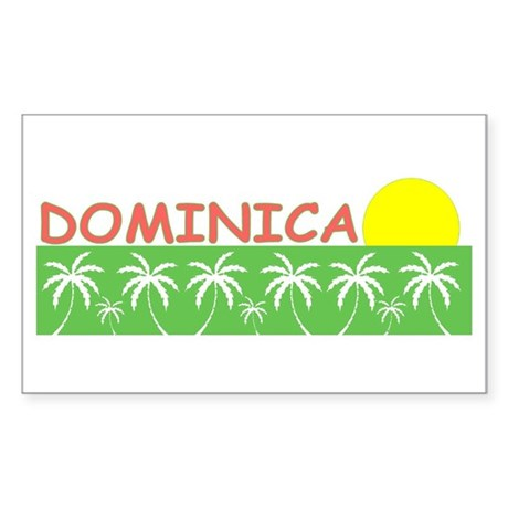 Dominica Rectangle Sticker