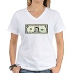 $3 Bill Women's V-Neck T-Shirt