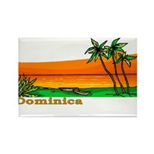 Dominica Rectangle Magnet (100 pack)