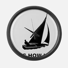 Sailing-01-12-A Large Wall Clock