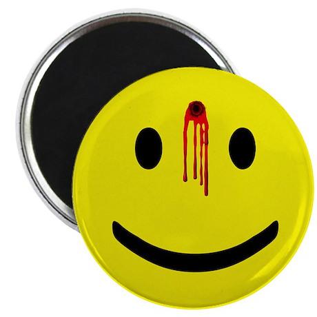 """Dead Smiley 2.25"""" Magnet (10 pack)"""
