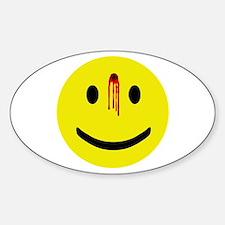 Dead Smiley Oval Bumper Stickers