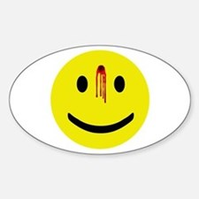 Dead Smiley Oval Decal
