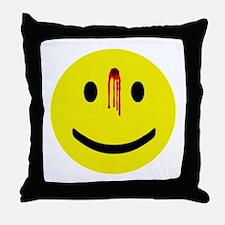 Dead Smiley Throw Pillow