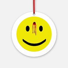 Dead Smiley Ornament (Round)