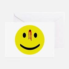 Dead Smiley Greeting Cards (Pk of 10)