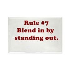 Rule #7 Rectangle Magnet