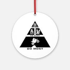 Motocross-11-A Round Ornament