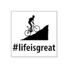 """Mountain-Biking-06-A Square Sticker 3"""" x 3"""""""