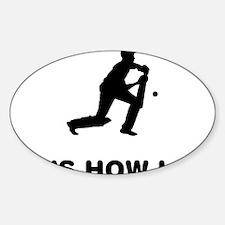 Cricket-12-A Sticker (Oval)