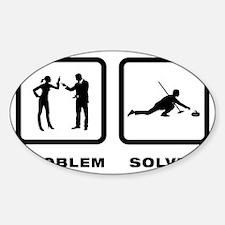 Curling-10-A Sticker (Oval)