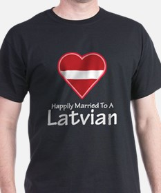 Happily Married Latvian T-Shirt