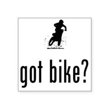 "Dirt-Biking-02-A Square Sticker 3"" x 3"""