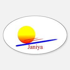 Janiya Oval Decal