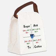Trig Signs Add Sugar To Coffee Canvas Lunch Bag