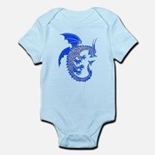 Blue/Silver Ring Dragon Infant Bodysuit