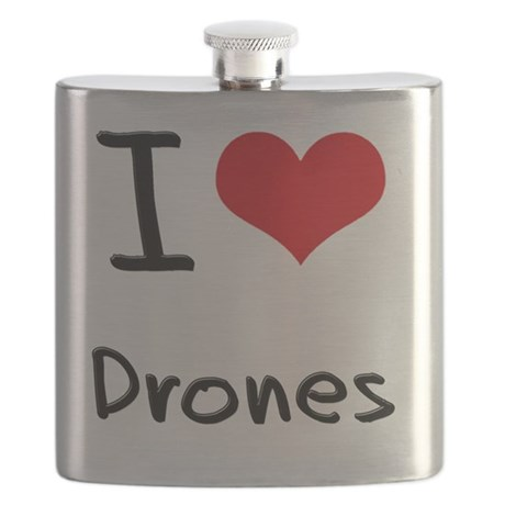 I Love Drones Flask