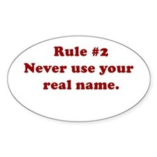 Rule #2 Oval Decal