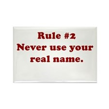 Rule #2 Rectangle Magnet
