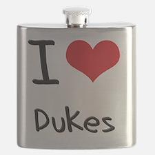 I Love Dukes Flask