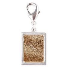 Abstraction Silver Portrait Charm