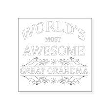 """GREAT GRANDAM Square Sticker 3"""" x 3"""""""