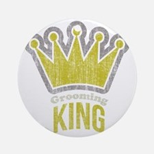 Grooming King Round Ornament