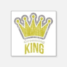 "Grooming King Square Sticker 3"" x 3"""