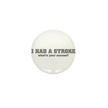i had a stroke Mini Button (10 pack)