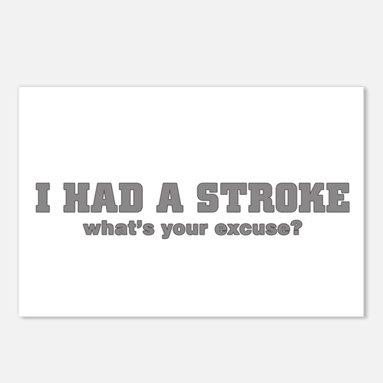 i had a stroke  Postcards (Package of 8)