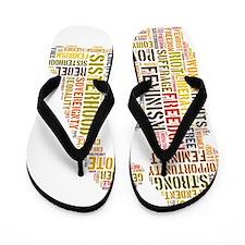 Feminism equals Strength Flip Flops