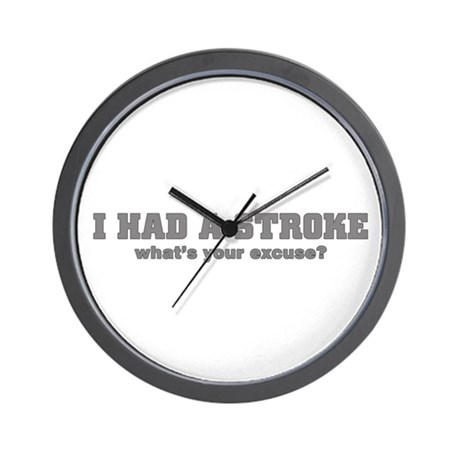 i had a stroke Wall Clock