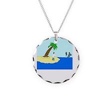 Desert Island Joke (TS-CW) Necklace