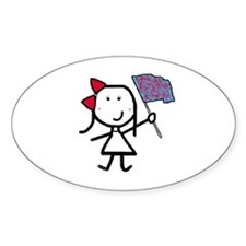 Girl & Color Guard Oval Decal