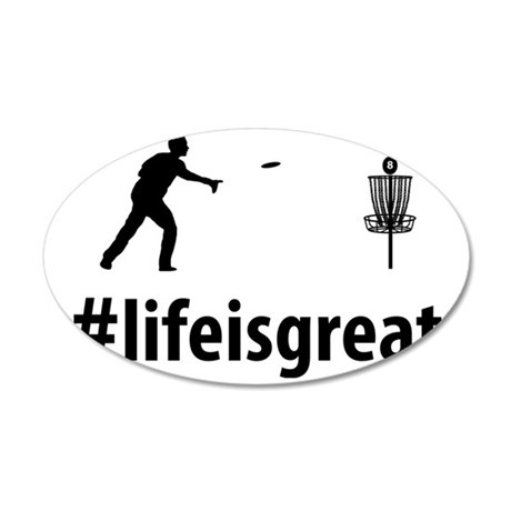 Disc-Golf-06-A 35x21 Oval Wall Decal