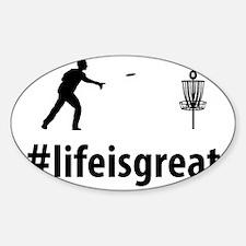 Disc-Golf-06-A Sticker (Oval)