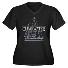 Clearwater Florida - Women's Plus Size V-Neck Dark