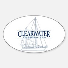 Clearwater Florida - Sticker (Oval)