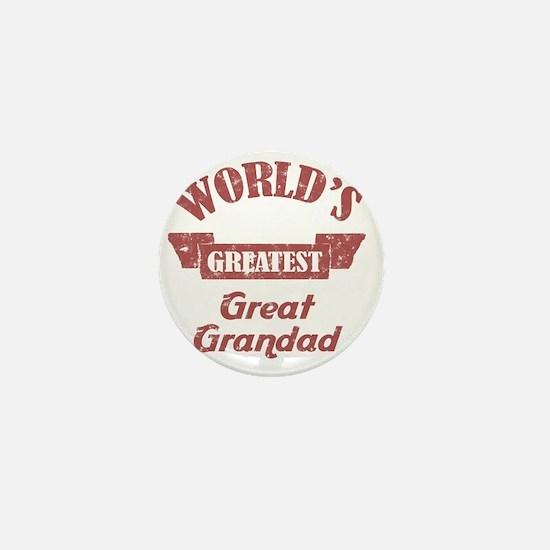 Worlds Greatest Great Grandad Mini Button