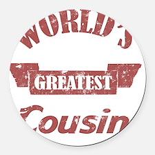 Worlds Greatest Cousin Round Car Magnet