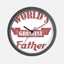 Worlds Greatest Father Wall Clock