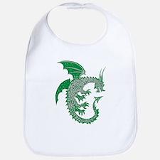 Green/Silver Ring Dragon Bib