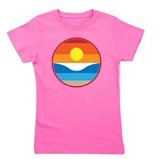 Horizon Sunset Illustration with Crashi Girl's Tee