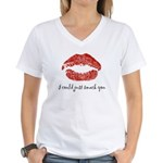I Could Just Smack You Women's V-Neck T-Shirt
