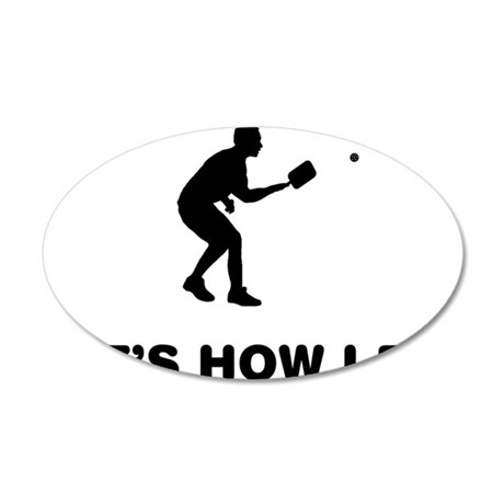 Pickleball-12-A 35x21 Oval Wall Decal