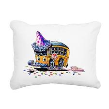 Party School Bus Rectangular Canvas Pillow