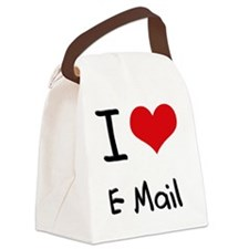 I love E-Mail Canvas Lunch Bag
