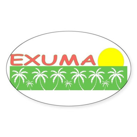 Exuma, Bahamas Oval Sticker
